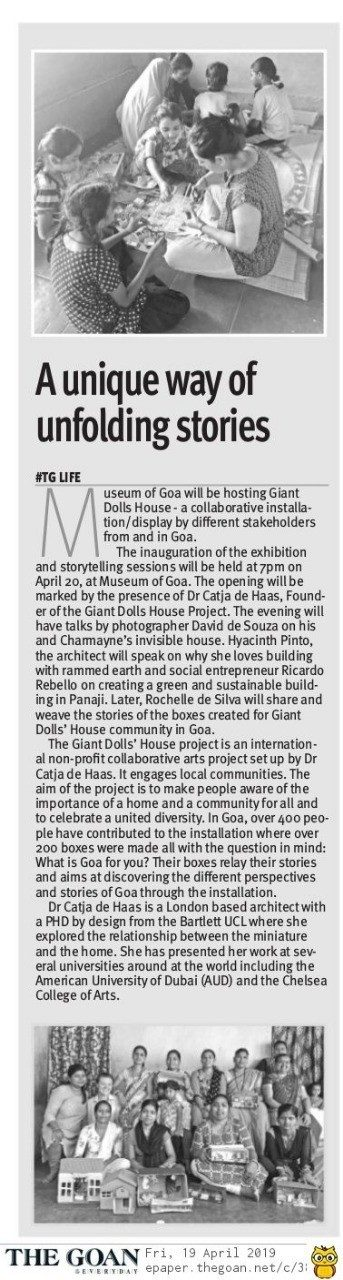Press cutting of The Goan